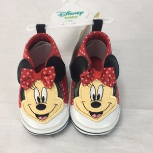 Minnie Mouse Polka Dot Hightop Shoes, 3-6 Months